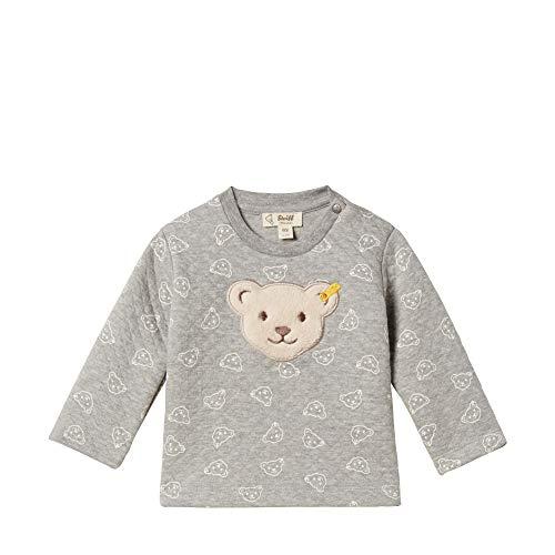 Steiff Unisex Baby Sweatshirt, Grau (QUARRY 9007), 62 (Herstellergröße:62)