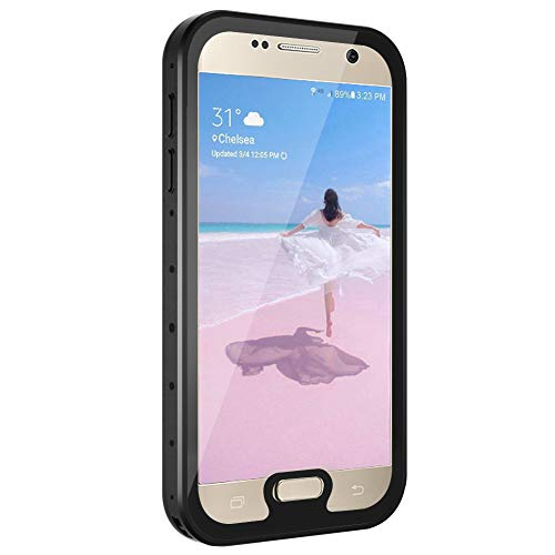 meritcase Galaxy S7 Waterproof Case, Shockproof Dustproof Full-Body Rugged Protective Phone Cover with Screen Protector for Samsung Galaxy S7 (2016 Release) - Black/Clear