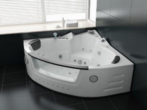 Luxus Whirlpool Badewanne 152x152 mit Vollausstattung (Massage)