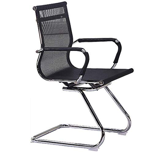 N/Z Daily Equipment Arched Office Chair/Backrest Computer Chair/Meeting Room Staff Chair/Modern Office Mesh Staff Chair/Ergonomic Chair Black 56X68X92Cm Black 56 * 68 * 92cm
