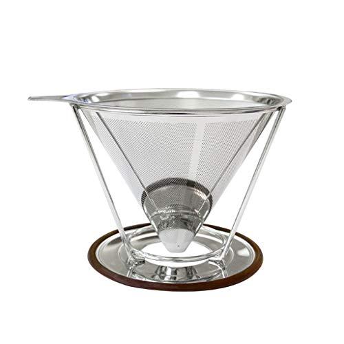 Bingxue Filtro de café de Acero Inoxidable con Forma de Panal, Filtro de café Reutilizable para Verter sobre el café, Filtro de té de café Hecho a Mano para el hogar