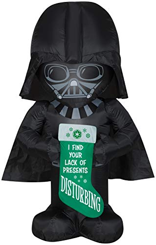 Star Wars Darth Vader Holding Stocking Inflatable