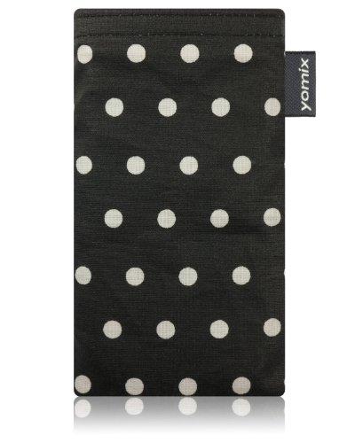 yomix CUSTODIA porta cellulare Gunilla nero per Nokia Lumia 820 PureView in tessuto con funzione pulisci display grazie all?imbottitura in microfibra