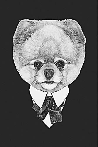 hahastore zwart-wit-canvas schilderij zwarte maffia dier hersenhundwolf beer tijgerplakkaat afdrukken muurkunst vintage hoofddecoratie 50x70cm (geen lijst)