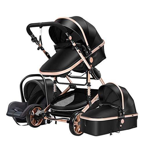 Cochecito De Bebé Sistema De Viaje Trolley Seat 3 En 1 Cochecito De Bebé Plegable Cochecito A Prueba De Golpes Con Asa Ligera Cesta Para Dormir Para Recién Nacido Cochecito Reclinable Convertible