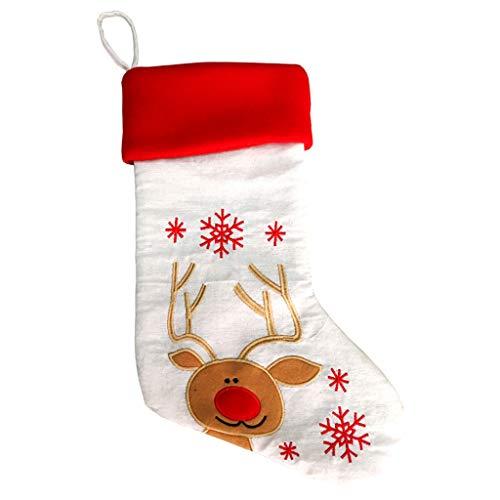 carol -1 Nikolausstiefel Weihnachsstrumpf Hängende Strümpfe für Weihnachtsdeko Weihnachtsstrümpfe Nikolaus Strumpf zum Befüllen und Aufhängen In Den Wald Thema für Weihnachtsschmuck