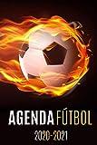 agenda futbol 2020-2021: agenda escolar futbol 2020-2021, agenda 2020 2021 semana vista, Septiembre 2020 a Sep 2021, calendario, planificador semanal...