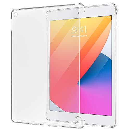 MoKo Funda Compatible con 2020 Nuevo iPad 8ª Generación 10.2', Ultra Delgado Trasera de Plástico Transparente Durable Protector Compatible con Apple iPad 7ª Gen 2019 Tableta - Esmerilado Transparente