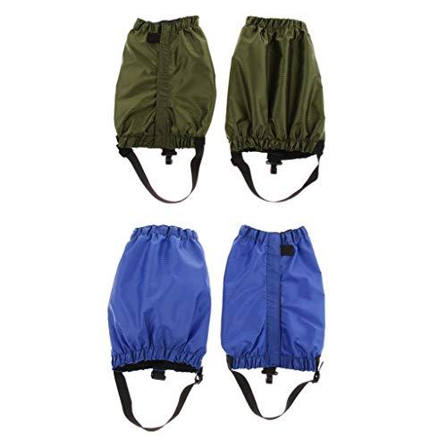 lahomia 2x Paio di Ghette Impermeabili, Stivali Protettivi per Indumenti - Esercito Verde Blu, Taglia Unica