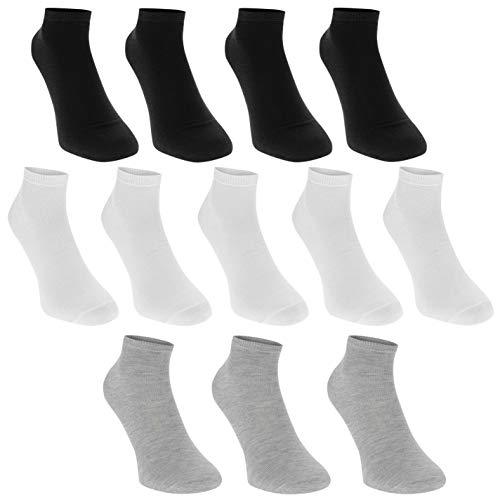 Donnay Kinder Freizeit Sneaker Socken Sport 12er Pack Mehrfarbig Asst Kinder UK C8-C13