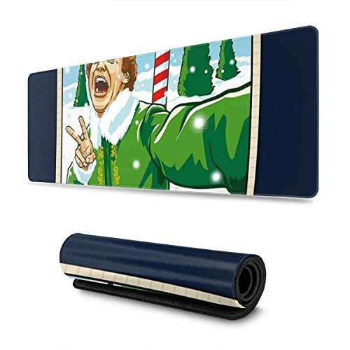 Extra Large Mouse Pad -Elf Will Ferrell Selfie Christmas Polaroid Desk Mousepad - 31.5'''' X 11.8''''x0.12''(3mm Thick)- XL Protective Keyboard Desk Mouse Mat for Computer/Laptop