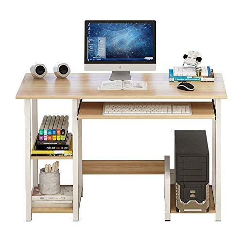 BinLZ-Table Bodenstehender Büchertisch Home Office Writing Arbeitszimmer für Kinder Mehrschichtiger Esstisch, Ahorn Sakuragi, 120CM