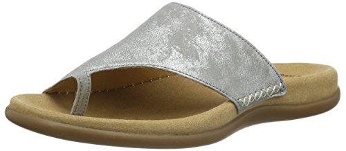 Gabor Shoes 43.700 Damen Pantoletten ,Grau (60 grau) ,40 EU