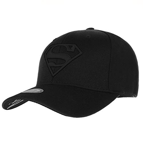WITHMOONS Baseballmütze Mützen Caps Kappe Superman Shield Embroidery Cotton Baseball Cap AC3260 (TwoBlack, L)
