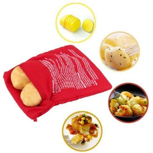 WZhen Mikrowellen-Backofen Kartoffel-Backbeutel - Rot