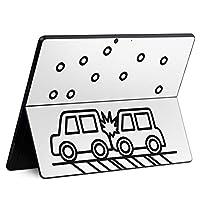 igsticker Surface Pro X 専用スキンシール サーフェス プロ エックス ノートブック ノートパソコン カバー ケース フィルム ステッカー アクセサリー 保護 016071 車 衝突 雪
