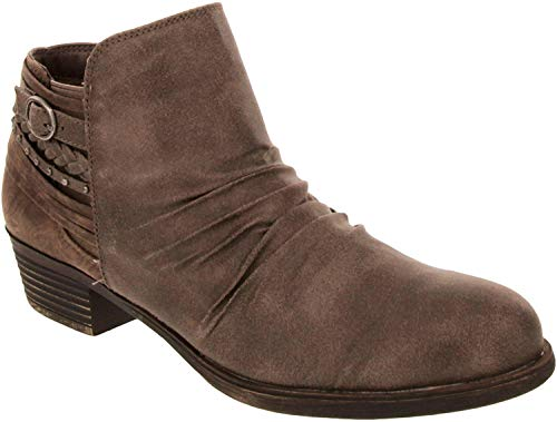 Rampage Booties for Women - Womens Ankle Boots with Block Heel, Ladies Side Zip Booties & Ankle Boots with Buckle and Braided Wraparound Detail | Tyra Stone 9