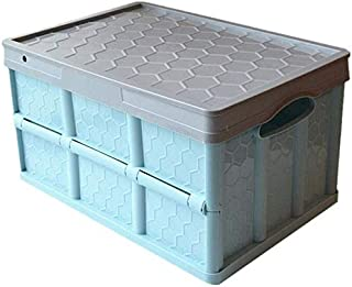 MU Grande boîte de rangement pliante, boîtes de rangement avec couvercles, boîte de rangement pour vêtements jouets,Bleu,4...