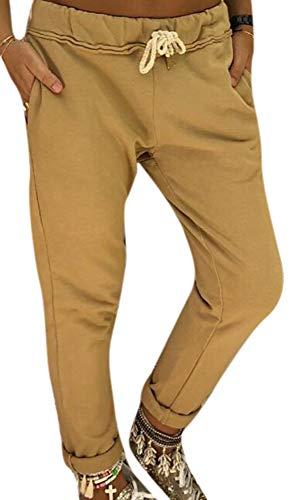 Dames Werkbroek met elastische taille, Damesbroek Smalle pijpen Hoge taille Normale broek Dames Joggingbroeken Broek