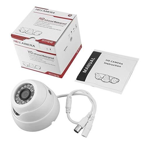 BiaBai Seguridad para el hogar 1/3 '' 1200TVL 24 luces LED Cámara de vigilancia de seguridad al aire libre de lente de 3,6 mm a prueba de agua nocturna