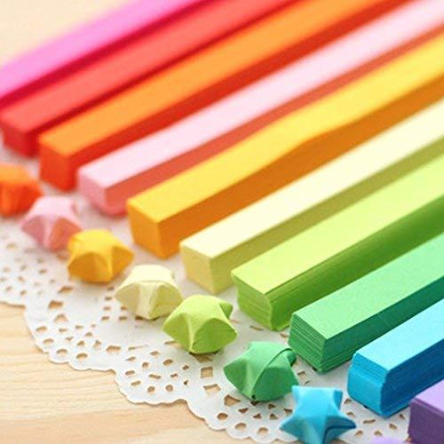 Origami-Sterne-Papier zum Basteln, 1030 Blatt, 27 Farben