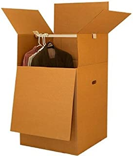 UBOXES Space Saving Wardrobe Moving Boxes 20 x 20 x 34 Inches Moving Boxes, 1-Pack, Kraft/Corrugated (BOXMINIWAR01)