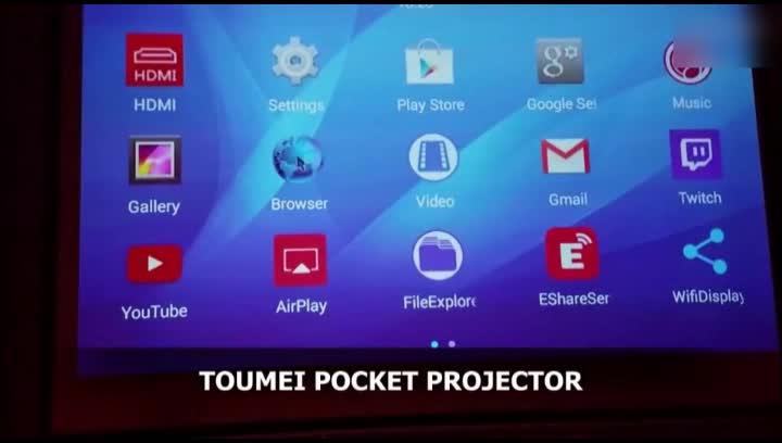 Toumei Proyector Portatil, LED Full HD 1080P Mini Proyectores Soporte WiFi/HDMI/TF/USB/Bluetooth Corrección Trapezoidal Home Cinema Videoproyector, ...