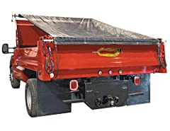 Built for simple dump body and dump trailer tarp applications Extra durable tarps feature brass grommets and heavy duty double-stitched and reinforced hems Solid vinyl tarp are rated to 400º F for covering asphalt All mounting hardware included Tarp ...