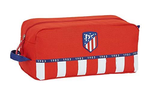 Safta- Atlético de Madrid Accesorio de viaje- Bolsa para zapatos, Color rojo/blanco/azul, 340x180x150 mm (M440)