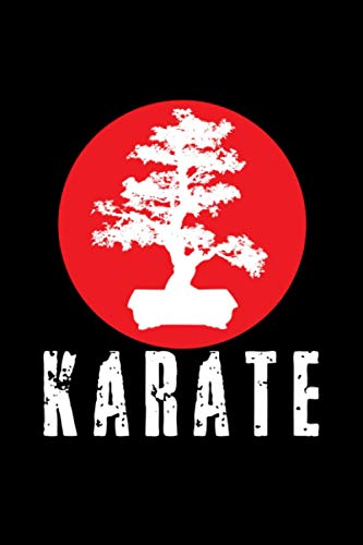 Karate: Vintage Training Journal Blank Lined Notebook for Martial Arts Lovers. Coworkers Teachers & Students Gift. Bonsai Cover