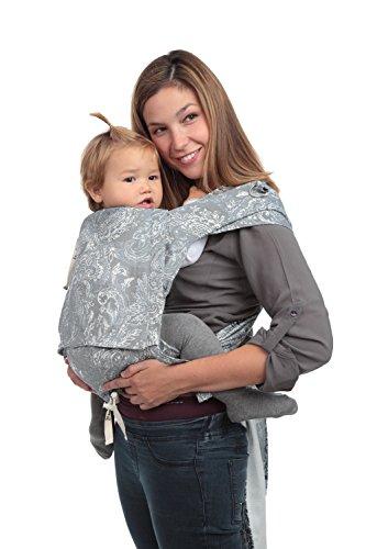 Mei Tai Amarsupiel Evolutivo | Mochila de Porteo | Mei Tai Ajustable | Tejido Algodón 100% Orgánico | Fabricado en UE | Textil Seguro Certificado Oekotex. Amebas gris