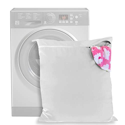 Bolsa de Lavandería Mascotas – mantenga su lavadora libre de pelo - cremallera y asa - para perros, caballos, gatos – ideal para toallas, mantas, juguetes, arnés y más