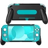 MoKo Funda con Asa Extra Compatible con Nintendo Switch Lite, Mango Rellenos Integrados de Diseño Ergonómico Cómodo, Estuche Resistente Desahogado Compatible con Joy-con Controlador - Negro