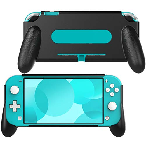 MoKo Hand Grip Case for Nintendo Switch Lite, Comfort Ergonomic Handle Case Protective Shockproof Holder Stand Kit Fits Nintendo Switch Lite