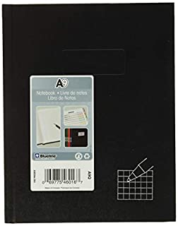 """""""Blueline Business Notebook, 4 x 4 Quad Ruled, 9.25"""" x 7.25"""", 192 Pages (A9Q)"""", Black (B000FH1OQ2) 