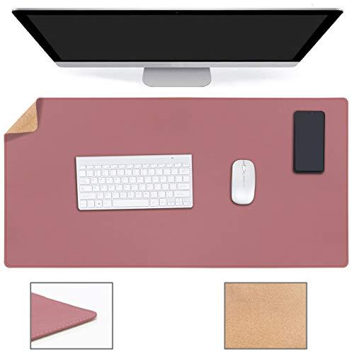 Multifunktionales Office Mauspad, YSAGi Wasserdichte Schreibtischunterlage aus PU-Leder, Ultradünnes Mousepad zweiseitig nutzbar, ideal für Büro und Zuhause