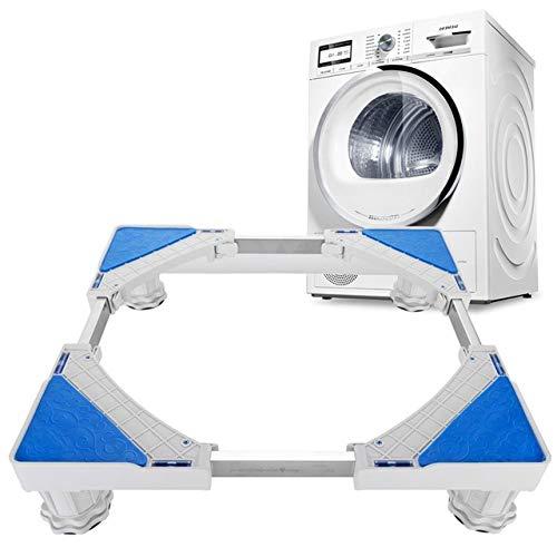 Oferta Sorpresa Soporte para Lavadora Universal Refrigerador Carro de Piso Soporte para refrigerador 4 pies Fuertes Base Ajustable Multifuncional para Secadora