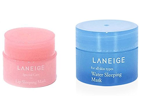 Laneige Maschera da notte da 15 ml e maschera da notte per labbra da 3 g
