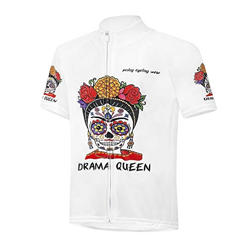 prolog cycling wear Radtrikot Mädchen Fahrradtrikot weiß bunt atmungsakitv, schnelltrocknend, Größe 122, 128. 134, 140, 146, 152, 158