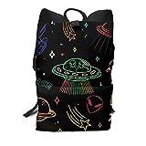 Homebe UFO Space Ship Alien Color Rucksäcke,Daypack,Schulrucksack Für Jungen und Mädchen School...