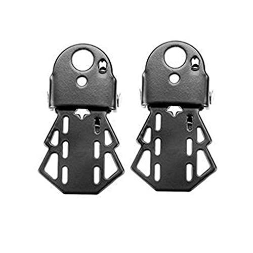 1 par de pedales para bicicletas, pedales de reposapiés plegables de asiento trasero para accesorios de bicicletas de bicicleta de muntain, negro (Color : W)