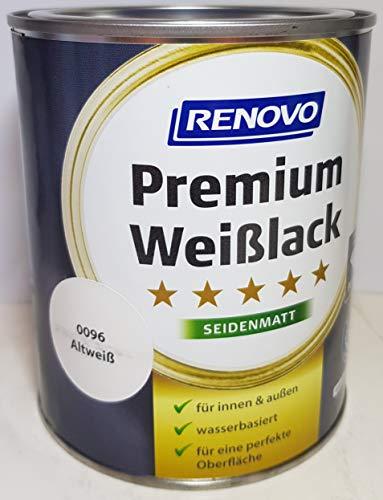 2,5 Liter RENOVO Premium Buntlack seidenmatt, RAL 0096 Altweiss