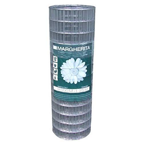 Margherita Rete elettrosaldata zincata 50,8 x 76,2 mm h 100 Metri 25