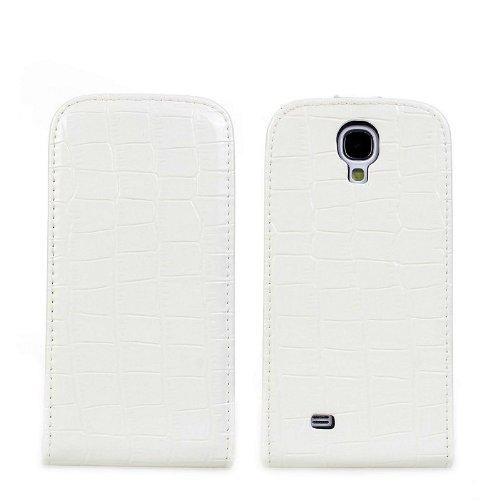 COVER Croco modello Cover Samsung S4Portafoglio Custodia in pelle Protettiva Case Caso trapuntato