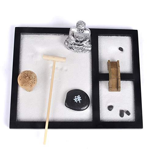 Canghai Zen Sand Meditations Ornamente, Buddha Statuen, Weißer Sand, Zen Steine, Kleine Steine, Pavillons, Vierzahn Rechen, Brücken, Tabletts, Gartendekoration Chinesische Ornamente