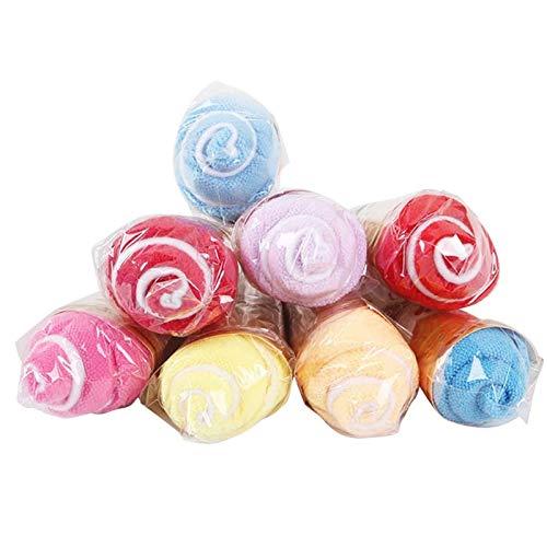 Amycute 12 pcs juguete de Toalla Helado regalos Originales Mini Toalla de Microfibra Toallas para niños party recuerdos de boda (Color al azar)