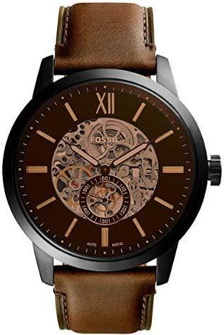 Fossil ME3155 | Heren horloge | Mechanisch uurwerk | Bruin | Waterdicht tot 5 bar