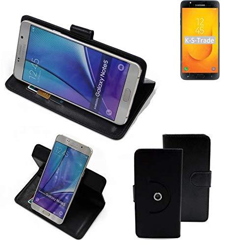 K-S-Trade® 360° Funda Smartphone para Samsung Galaxy J7 Duo (2018), Negro | Función De Stand Caso Monedero BookStyle Mejor Precio, Mejor Funcionamiento