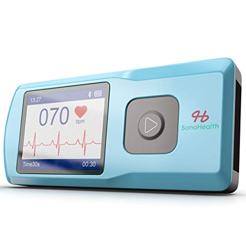 SonoHealth Portable EKG Heart Rate Monitor | Wireless Handheld Home ECG Cardio & Electrocardiogram...