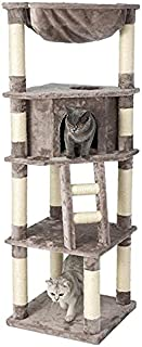 HONEYPOT CAT by CHOKYO Chipboard Flannel Cat Tree Cat Tower Build with Extra Large Condo, Sisal Scratching Posts and Heavy...